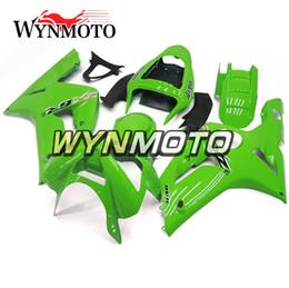 Wholesale Kawasaki 636 Frame - Green Full Fairings For Kawasaki ZX-6R 636 2003-2004 03 04 Injection ABS Plastics Hull Covers Motorbike ZX6R Frames Body Kits Cover Panels