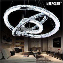 2019 26 colgante de luz led Venta caliente Diamond Ring LED Crystal Chandelier Light Modern LED Lighting Circles Lámpara Garantía 100% Envío rápido