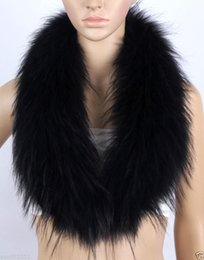 Wholesale Real Fur Shawl Shrug - Real fox racoon fur Collar stole Neck Warmer Wrap shrug Scarves scarf shawl cape