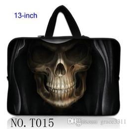 """Wholesale Neoprene Netbook Bag Sleeve - Skull In Hat Laptop Bag Sleeve Case Cover For 13"""" 13.1"""" 13.3"""" Apple Macbook Pro Air Netbook"""