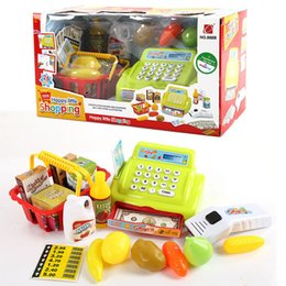 Wholesale Cash Register Wholesalers - Simulation cash register Luxury Pretend Play Toys Supermarket checkout Simple version with no shopping cart Kids toy Christmas Gift 201506LY