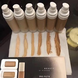 Wholesale Whitening Cream For Freckles - Newest Fenty Beauty Liquid Foundation Rihanna Pro Filt'r Soft Matte Long Wear Foundation Face Cosmetics Makeup 6 Colors For Girls Teens