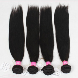 Wholesale Double Wefted Hair Extensions - Dyeable Unprocessed Straight Human Hair Weft Extension,Strong Wefted Silky Straight Weaving Hair 3 Bundles Deal,7A Vrigin Malaysian Straight