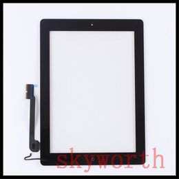 Wholesale Ipad2 Adhesive - For iPad 2 3 4 Touch Panel Screen Glass Digitizer replacements With home button & adhesive Complete Assembly DHL