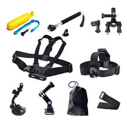 Wholesale Gopro Belt - For GoPro Camera Wrist Strap Helmet Extention Kits Chest Belt Mount Bike Handlebar Mount Holder For Gopro Hero 4 3+ 3 2 Freeshipping