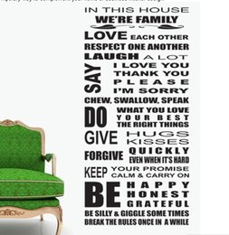 Wholesale Decorative Kids Wall Decals - we are family home decor quote wall decal decorative wall decor removable vinyl wall sticker