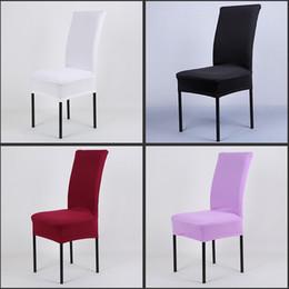 stuhl Rabatt Universal High Stretch Spandex Stuhl Abdeckung für Hochzeit Bankett Hotel Bar Haus und Party Supplies 11 Farbe zur Verfügung Freies Verschiffen