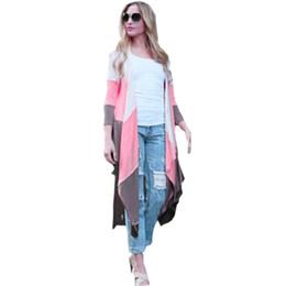 Wholesale Shrug Womens Cardigan - Womens Sweaters Fashion 2015 Autumn Chothing Mix Color Spring Shrug Loose poncho Cardigan Female Plus Size Oversized Outwear
