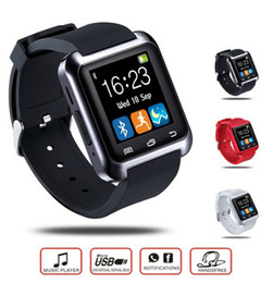Armbanduhr iphone 5s online-Bluetooth Smart Watch U8 Armbanduhr U SmartWatch für iPhone 4 / 4S / 5 / 5S / 6 und Samsung S4 / Note / s6 HTC Android Phone Smartwatch