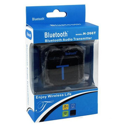 Wholesale Hifi Bluetooth Transmitter - Bluetooth Transmitter H-266T Bluetooth A2DP Transmitter 3.5mm Stereo HiFi Audio Dongle Adapter Black White Retail Package