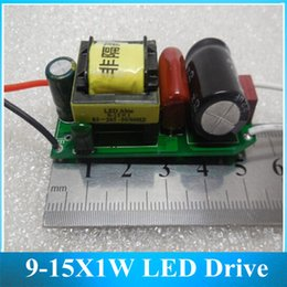 Wholesale 9w Led Bulb Power Supply - Wholesale-9-15X1W LED Drive Dimming Power 9W 12W 15W Constant Current Output LED Bulbs Light Dimmable power supply 10PCS