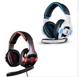 Wholesale Headset Gaming Wireless - Hot Sell Professional Game Headset 7.1 Sound USB Gaming Headphone with Mic Spotlight Remote for PC Laptop