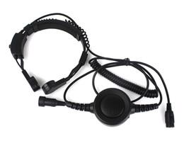 Argentina Auricular secreto militar Grade Táctica Garganta Micrófono PTT Auriculares con PTT para KENWOOD Radio BF-UV5R C0200A Alishow cheap military tactical headset Suministro