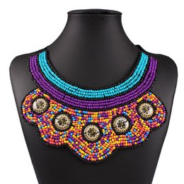 Wholesale American Indian Beaded Necklace - Free Shipping Exquisite Handmade Beaded Detachable False Collar ,Statement Choker Necklaces Fashion Jewelry For Women HD-150