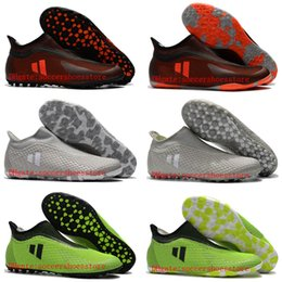 Wholesale Cheap Indoor Soccer Shoes Kids - 2018 cheap mens soccer cleats X Tango 17 Purespeed TF IC football boots indoor soccer shoes high quality futsal shoes new kids