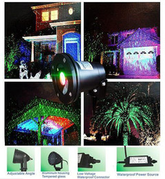Wholesale Star Sky Light Projector Lamp - LED FloodLight Outdoor Waterproof IP65 Laser Firefly Stage Lights Landscape Red Green Projector Christmas Garden Sky Star Lawn Lamps By DHL
