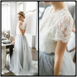 916dd21caa60 2018 Country Style Bohemian Bridesmaid Dresses Top Lace Short Sleeves  Illusion Bodice Tulle Skirt Maid Of Honor Wedding Guest Party Gowns