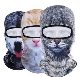 Wholesale bicycle print - 3D Animal mask sports headscarf mask quick dry Balaclava Snowboard Bicycle Windproof Thermal Full Face Mask KKA3460
