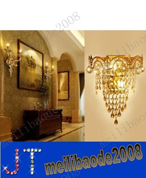 Wholesale k9 crystal wall sconce - FREE SHIPPING Modern crystal wall lamp modern Crystal Sconce wall Lights living room wall lamp lamps k9 crystal Lighting MYY3145A