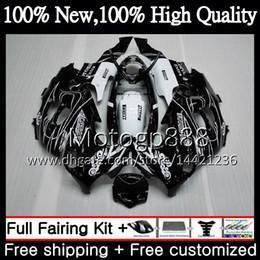 Carenados gsxf online-Cuerpo negro CORONA para SUZUKI KATANA GSXF 600750 GSXF600 98 99 00 01 02 21G817 GSX600F GSXF750 1998 1999 2000 2001 2002 Carenado de motocicleta
