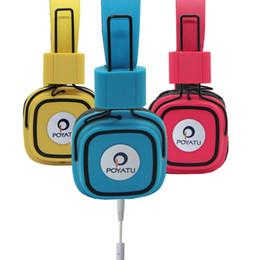 Wholesale Dj Stereo - Wholesale-POYATU Headphones Bass Noise Isolating headset Studio DJ Headphone Earphones With Mic&Remote Stereo Hifi earbuds With Bags