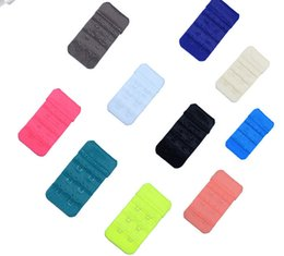 Wholesale Sewing Notions Tools - Women brassiere 3 Rows 2 Hooks Bra Extenders back buckle Clasp Strap Sewing Notion Tools Intimates Accessories 100pcs lot