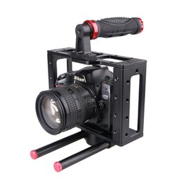 Wholesale Top Handles Dslr - DSLR Camera Cage Top Handle 15MM Rod System For Video Camera Canon 5D MARKII III 7D 60D 550D Nikon Sony