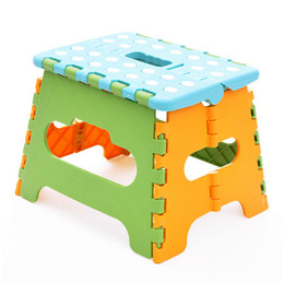Wholesale Stool Plastic - wholesale retail New Easy Foldable Step Stool chair hold Up to 200 lbs for camping fishing kids folding seat CYB28