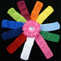 Wholesale Kids Fashion Crochet - Fashion Girls Hair Accessories Multi Color KidsHair Band High Quality 1.5inch crochet headbands for Girls New Arrival CT015
