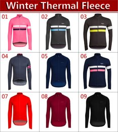 Wholesale Apparel M - 2017 winter thermal fleece bicycle sports clothing jacket   9 styles warm long sleeve Cycling jersey   high-quality outdoor sports apparel