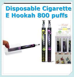 Wholesale E Hookah Tips - Disposable Cigarettes E hookah Shisha Pen 800 puffs Metal Tip Crystal Button E hookah E shisha 10 Flavors E Cigarette DHL