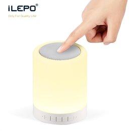Wholesale Beat Mini Speakers - Bluetooth LED Light Speaker S17 Ring Super Mini Portable Beat Hi-Fi Bluetooth Handfree Smart Phone Control the Bulb Color