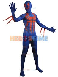 Wholesale Most Popular Kids - 2015 Newest Spider-man 2099 Costume 3D Printing Spandex Fullbody Halloween Spiderman costume the most popular zentai suit free shipping