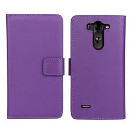Wholesale X Mini Green - GENUINE Wallet Credit Card Stand Leather Case For LG X Cam G2 MINI G3 MINI G4 BEAT G4 Stylus Joy Leon Magna Spirit stylus 2 V10 1PC LOT