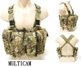 Wholesale Ak Magazines - Tactical combat Mens AK Carry Vest with 6 Pouches Bags Magazine Carry Chest Rig