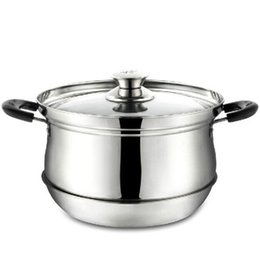 Wholesale Q Stock - Wholesale-Stainless pot 27*26*19.5cm cooking pot multifunction stock pan Heat preservation Saving pot cooking tool Q-166