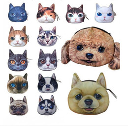 Большой дамский кошелек онлайн-14 тип Новый Кот портмоне дамы 3D цифровой печати большие кошки лицо мода мультфильм молния сумка для детей