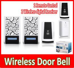 Wholesale Digital Remote Control Doorbell - New Wireless Door Bell - 1 Remote Control 2 Wireless digital Receiver Doorbell 36 Chimes Songs Waterproof Wireless Doorbell.