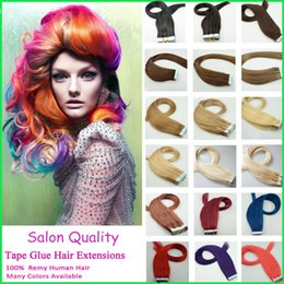 Wholesale Hair Bond Tape - Straight PU Skin Weft Virgin Hair Extensions,Invisible Hand Knotted PU Tape on Brazilian Remy Hair,Salon Bond Human Hair Highlights Tape Tab