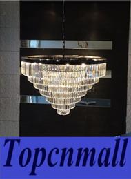 Wholesale Modern Tier Chandelier - Replica Grand crystal chandelier Industrial Diam 100cm 1920S ODEON CLEAR GLASS FRINGE 7-TIER CHANDELIER vintage k9 lustre LYH01