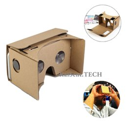 Wholesale Virtual Kit - Google Cardboard DIY Kit Virtual Reality Viewer 3D Cardboard Glasses for iPhone 6s 6 plus Samsung s6 s5 note5 3D VR glasses 5
