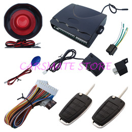Wholesale Trunk Release Car Alarm System - In Stock Universal Model 1 Way Car Alarm Security System With Flip Key Rmoete Controls Remote Trunk Release Very Fast Shipping!