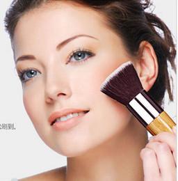 2019 cepillo de base kabuki plano Pincel de maquillaje de base plana superior de brocha de Kabuki suave multifuncional en polvo Pulidor EDM Base Brush M294 cepillo de base kabuki plano baratos