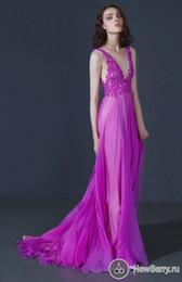Wholesale Sxey V - Sxey Deep V-Neckline Evening Gowns 2016 New A-Line Long Prom Dresses Party evening Appliques Floor Length