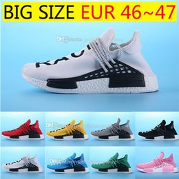 Wholesale Big M Discount - Big Size New Human Race Pharrell Williams X NMD Sports Running Shoes,discount Cheap top Athletic mens Outdoor Boost Training Sneaker Shoes