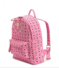Wholesale Famous Backpack Brands - 2017 New fashion women designer bags luxury designer backpack style famous M brand name shoulder bags big capacity