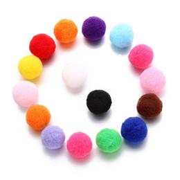 2019 jóias de algodão bolas 16 MM Perfume Difusor de Óleo Colorido Bola De Algodão Colar Pulseira Brincos Pingente de Encaixe 2018 Acessórios de Moda Jóias DIY Conponents desconto jóias de algodão bolas