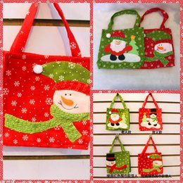 Wholesale Christmas Gift Wrap Sale - 4Styles Santa Merry Christmas Decoration Candy Sweet Apple Bag Gift Bags Gift Wrap Party Decoration Top Sale Online Cheap Sale