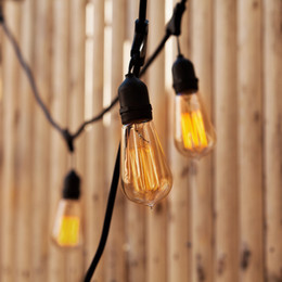 Wholesale Edison Style - E27 40W Vintage Edison Bulb ST64 Antique Filament Tungsten Squirrel Cage Style ST64 Incandescent Bulbs for Home Light Fixtures 110V 220V