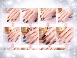 Wholesale Nail Art Sticker Mix Color - 2015 New 3D Mix Color Floral Design Nail Art Stickers Decals Manicure Beautiful Fashion Accessories Decoration